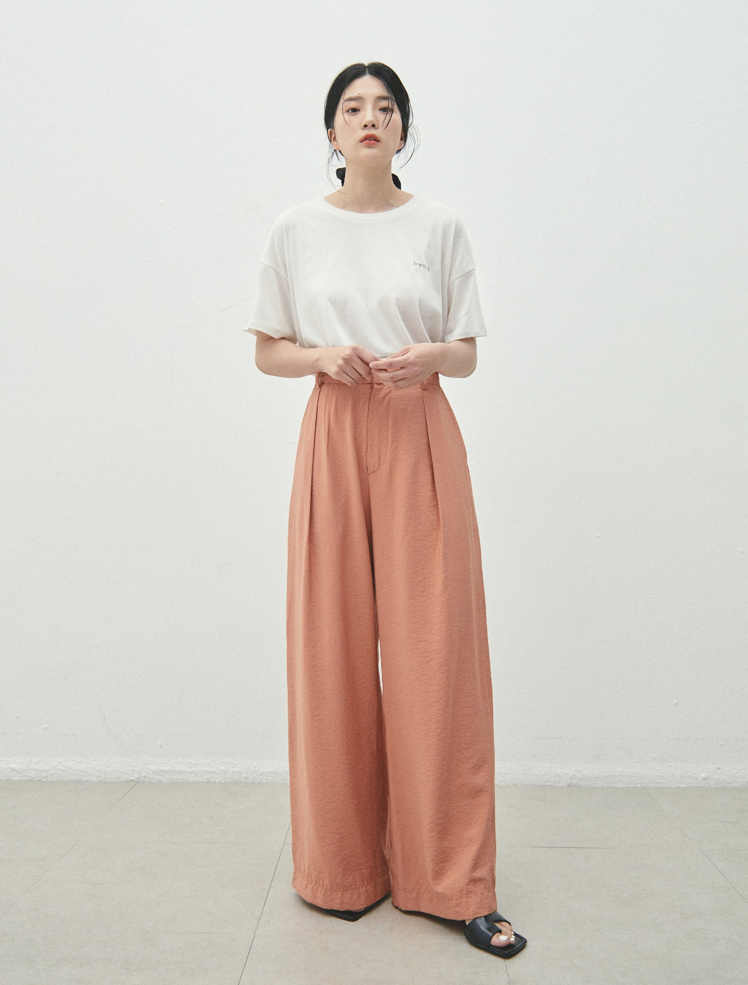 Peach Wide Pants