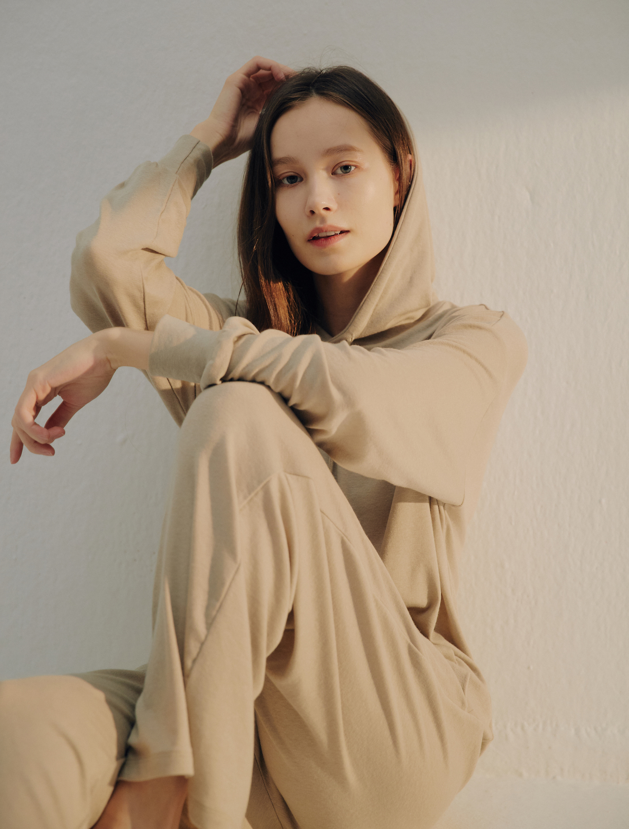 PRE-ORDER · Relaxed Hooded Sweat Top & Pants Set