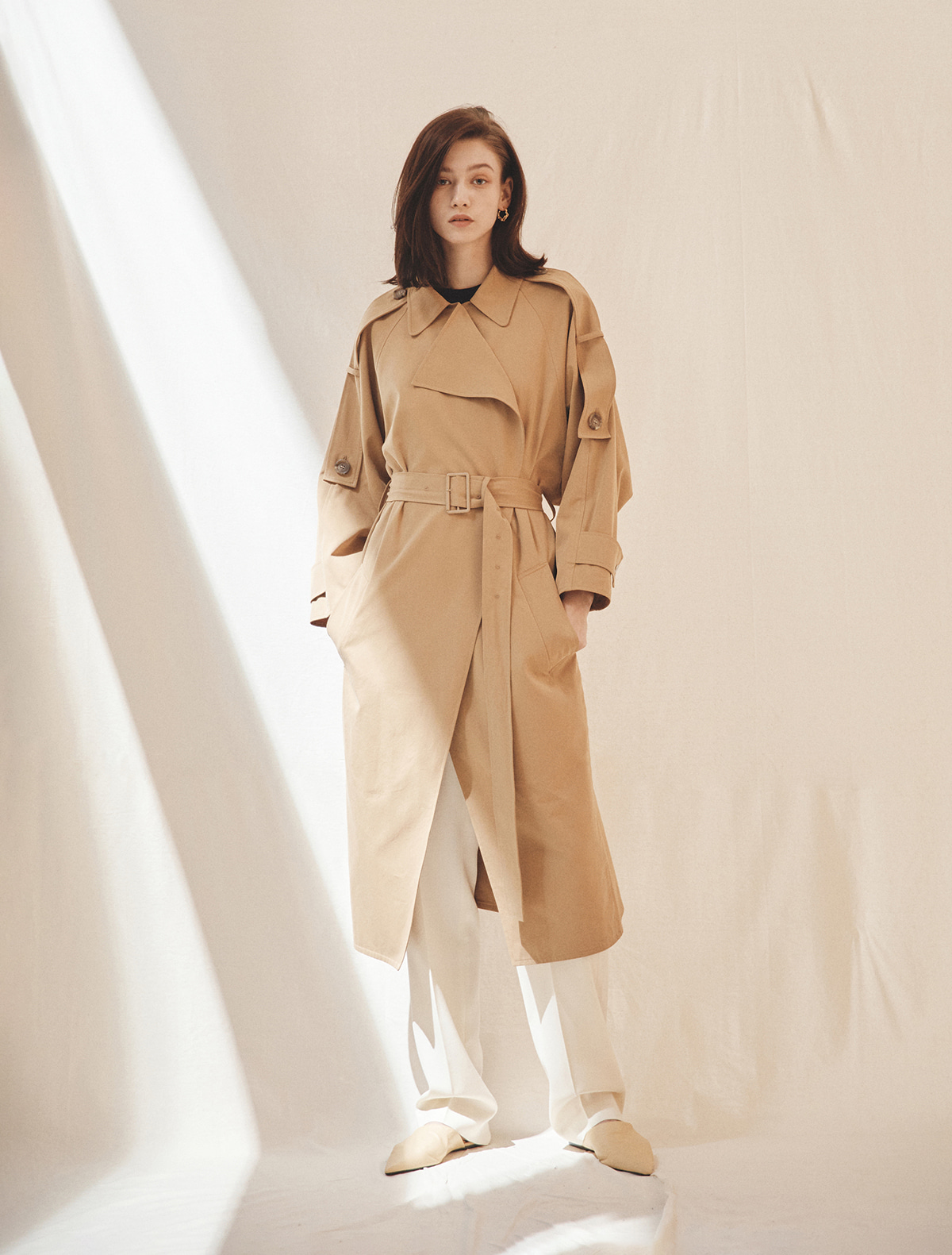 2nd REORDER · Oversized Cotton Gabardine Trench Coat