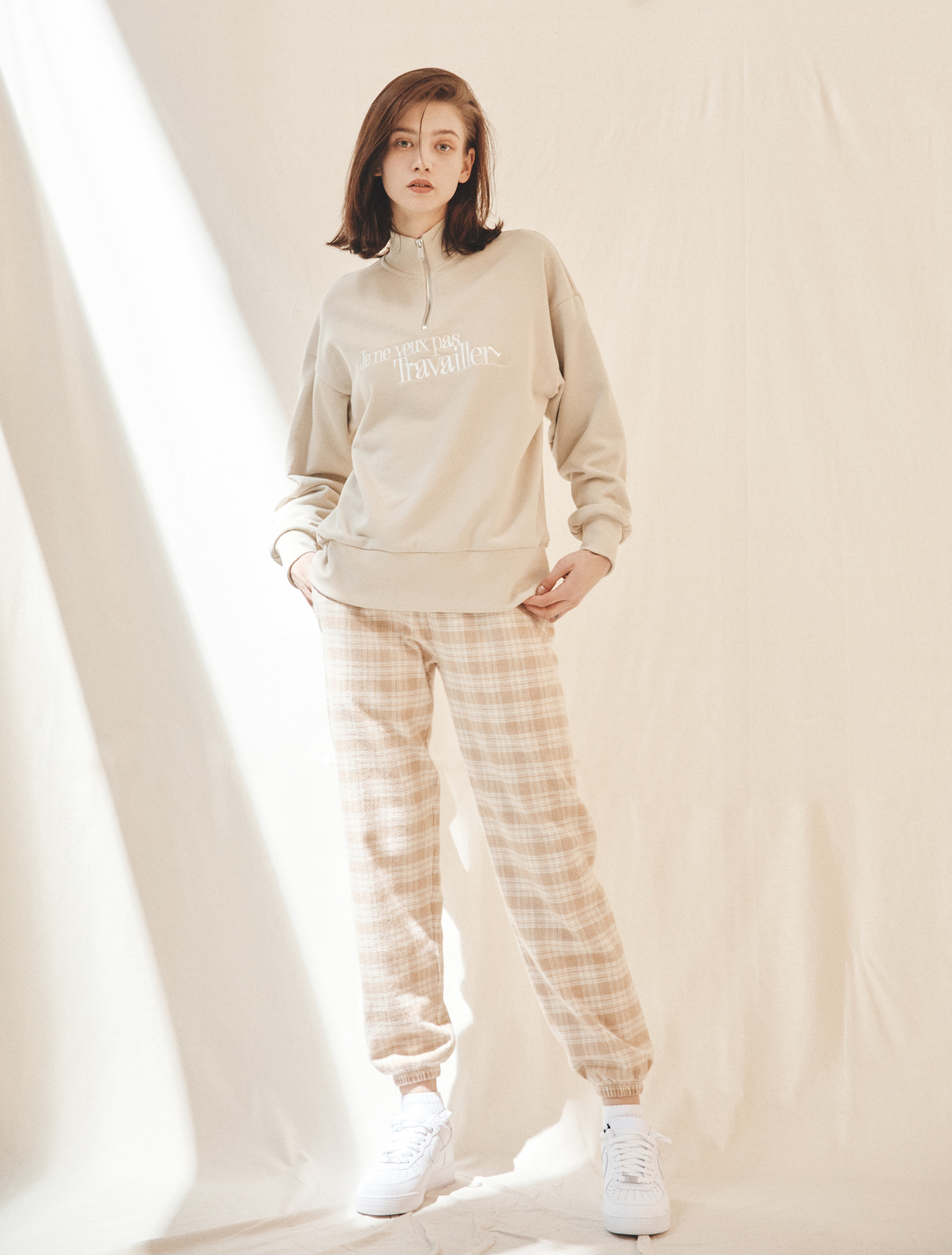 Organic Cotton Plaid Jogger Pants