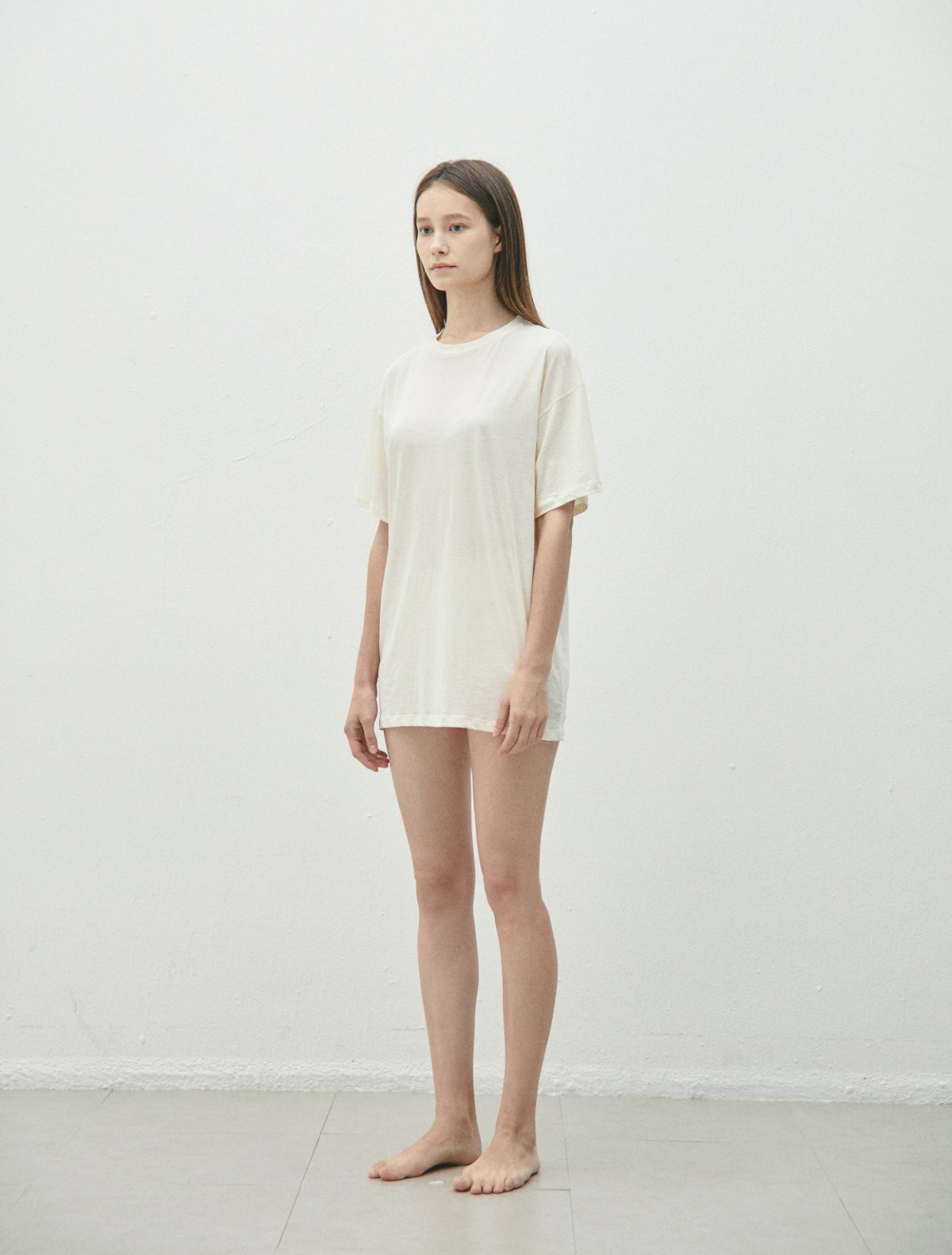 Cotton Long T-Shirts (Cream/Black)