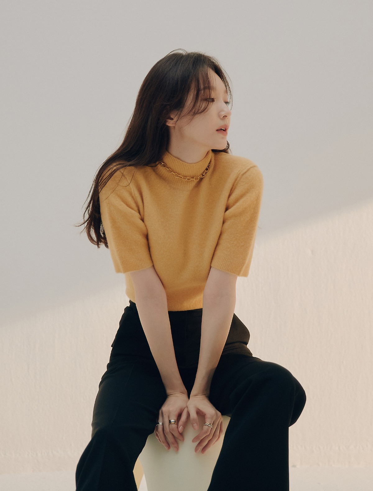 2nd REORDER · Short Sleeve Turtleneck (Mimosa)