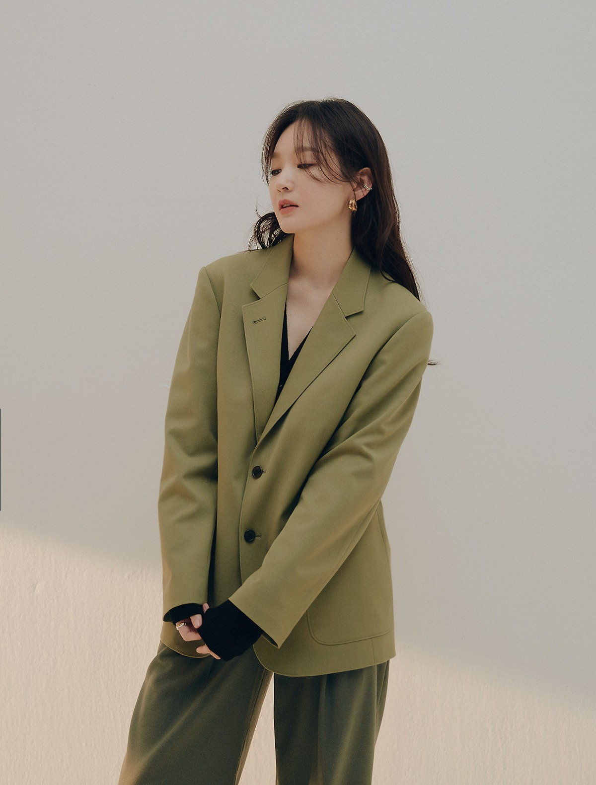 2nd REORDER · Classic Tailored Jacket (Olive)