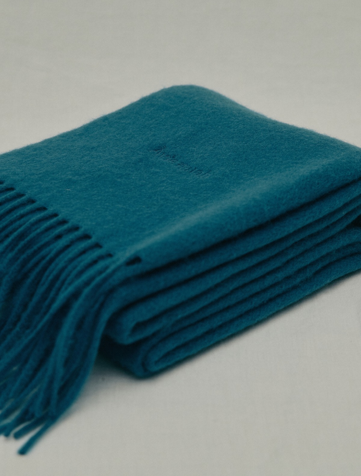 Deep Blue Wool Muffler