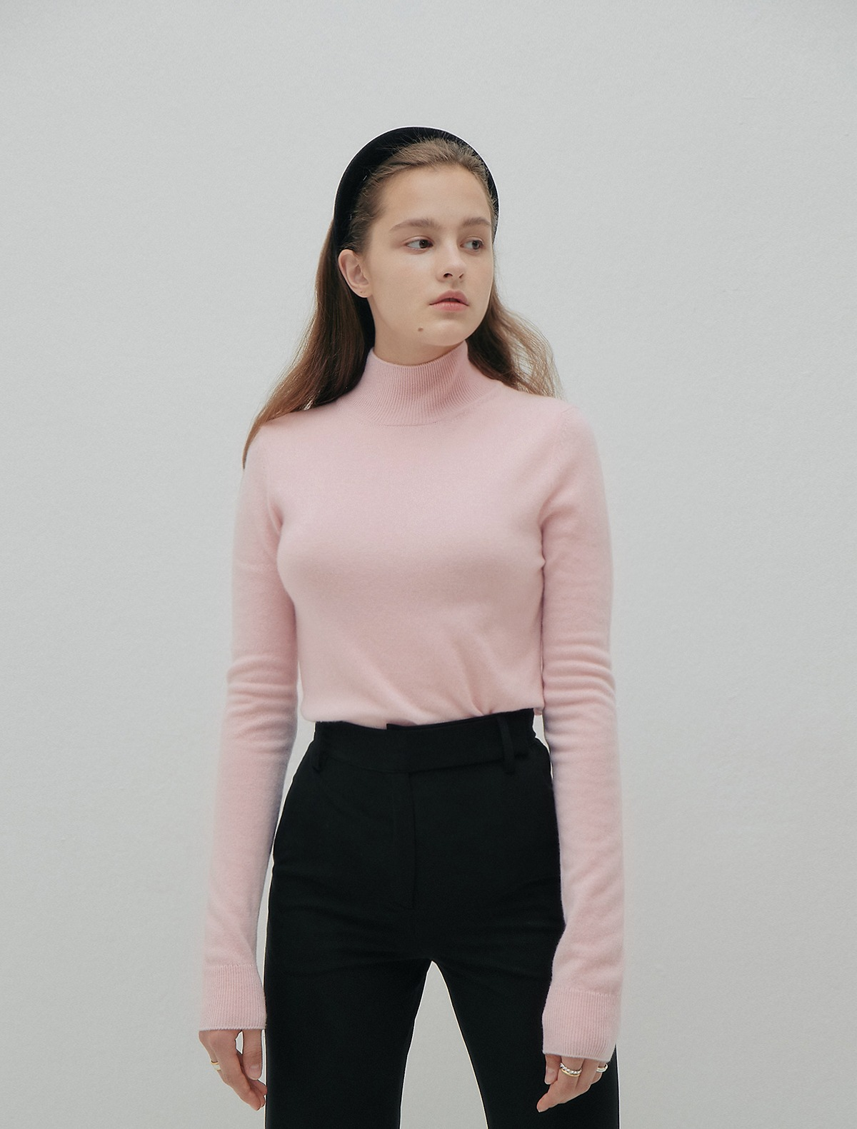 Cashmere Turtleneck Sweater (Pink)
