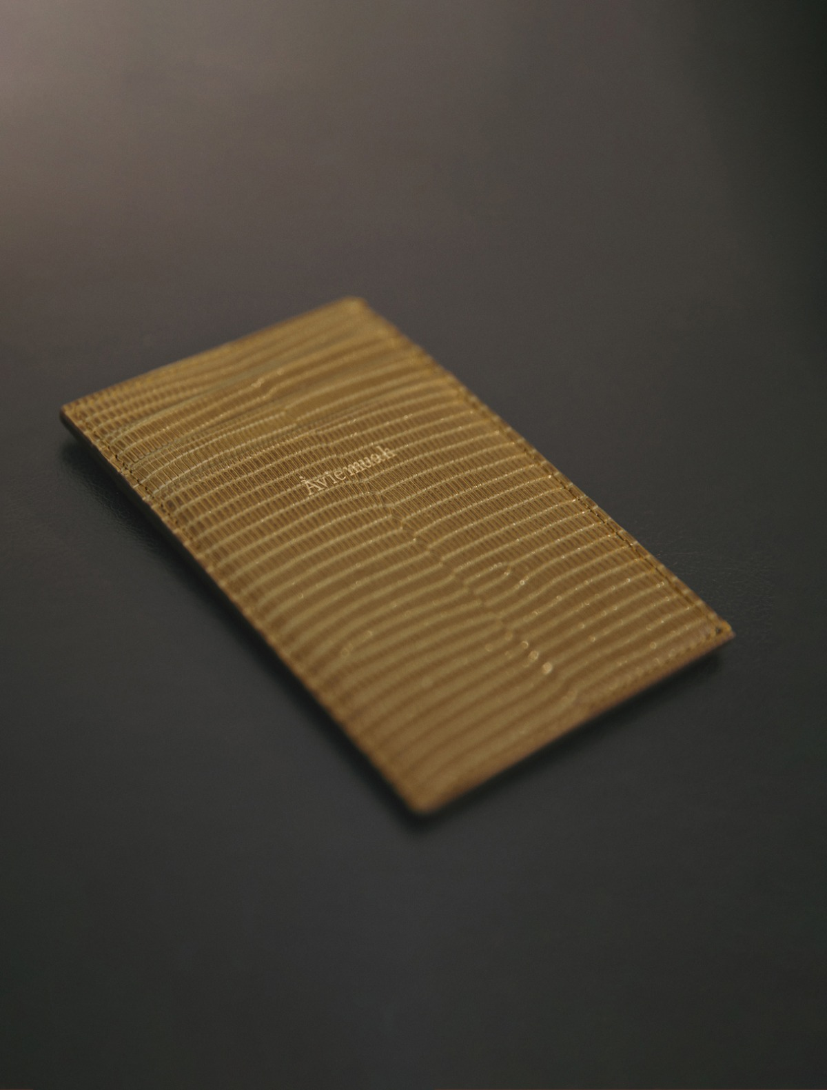 7 Pocket Card Holder (Lizard Olive)