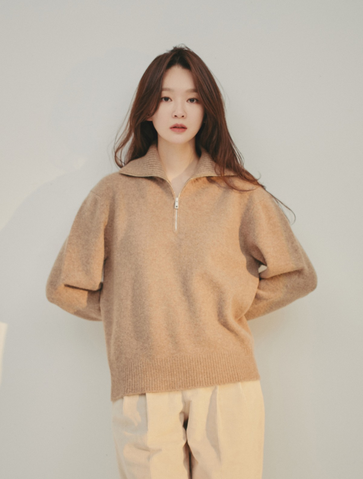 Half-Zip Turtleneck (Mocha)