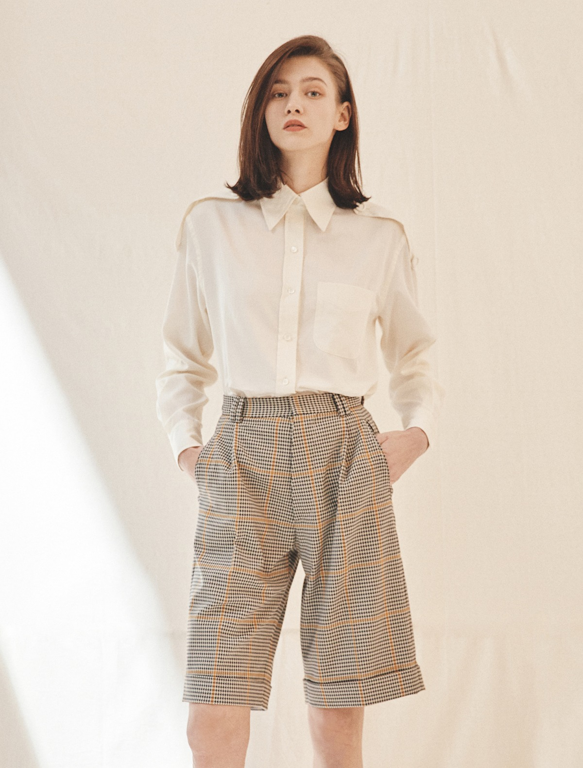 Plaid Bermuda Tailored Shorts