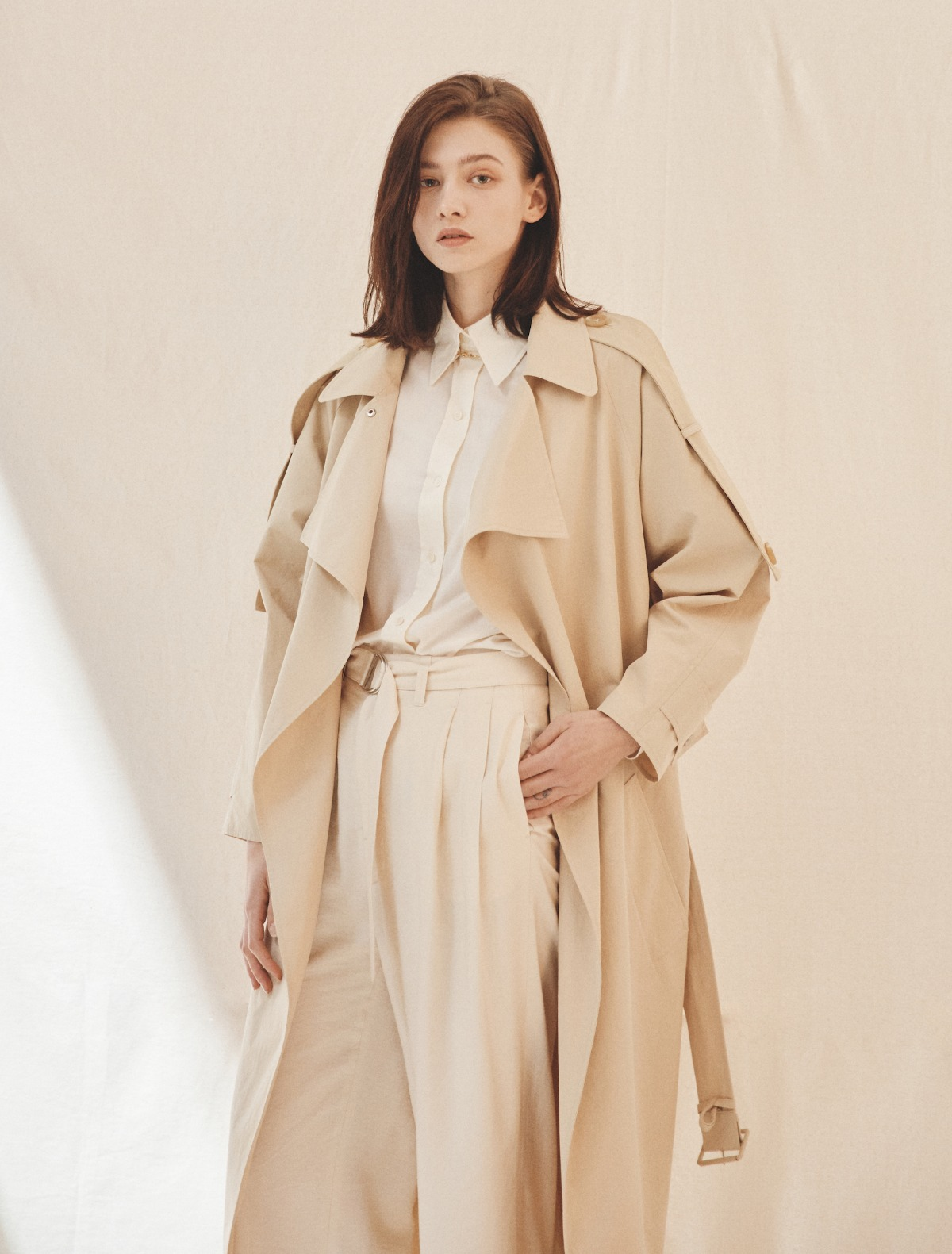 2nd REORDER · Oversized Cotton Trench Coat