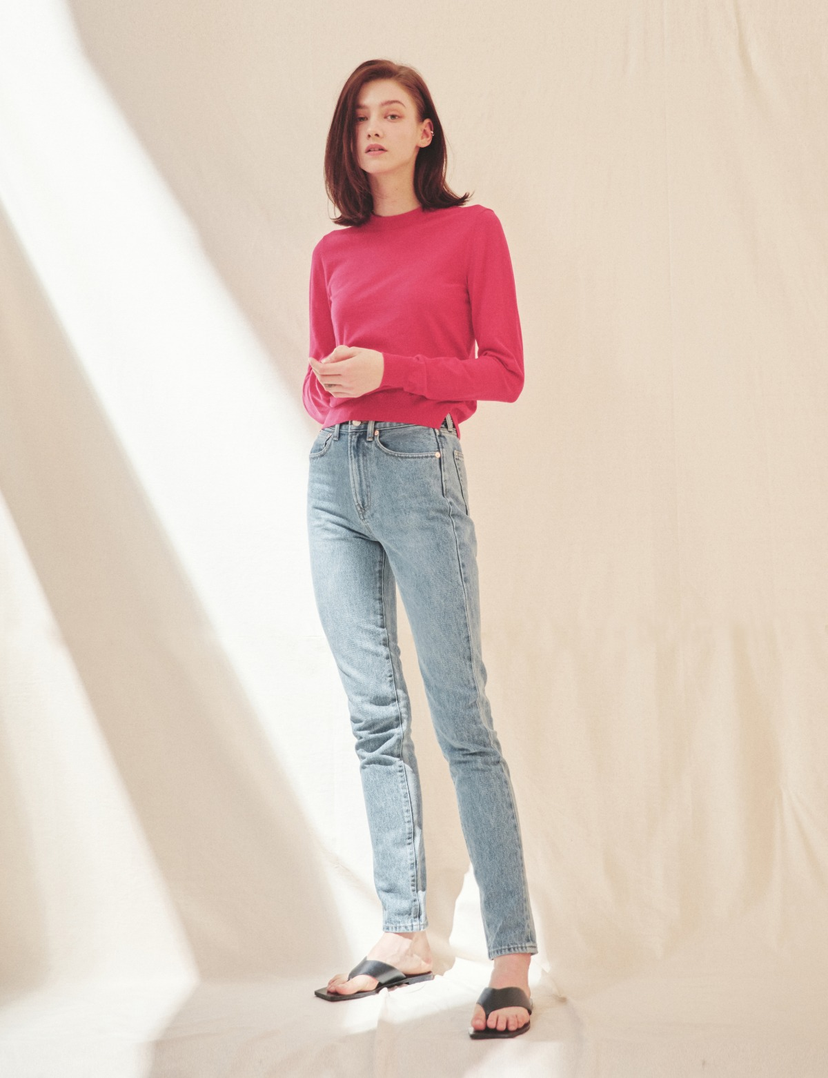 Cotton-Cashmere Sweater (Pink)