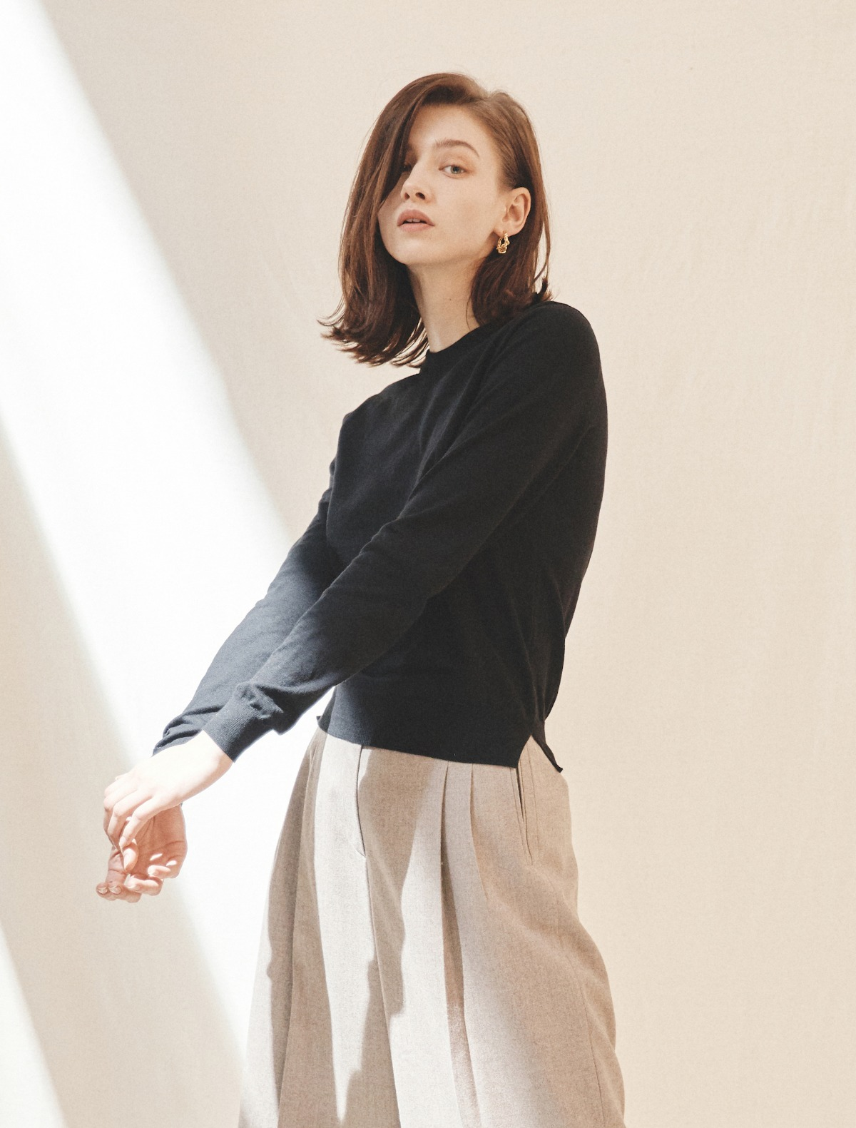 Cotton-Cashmere Sweater (Black)